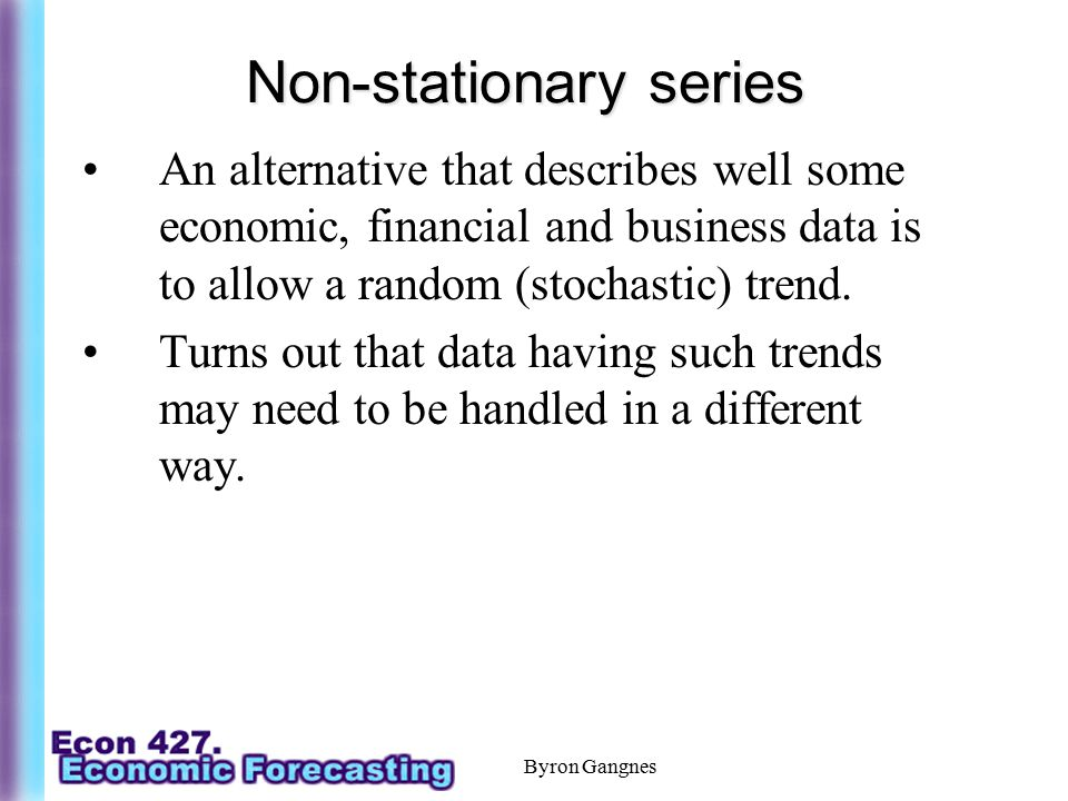Non-stationary series