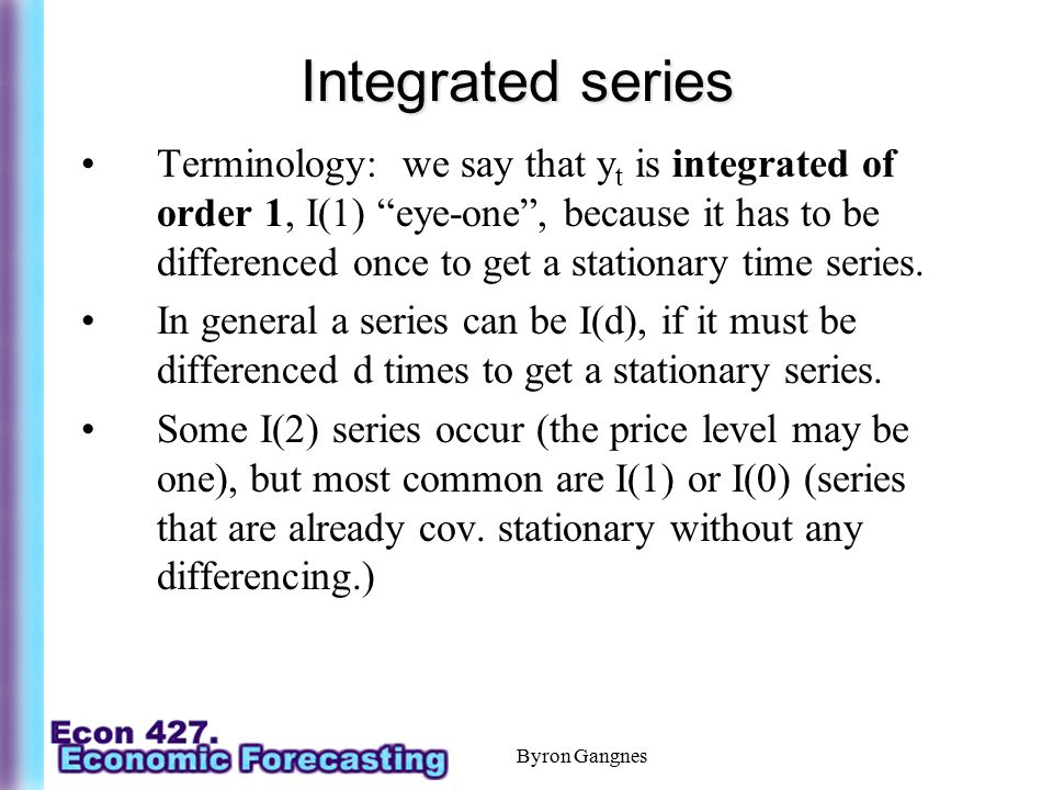 Integrated series