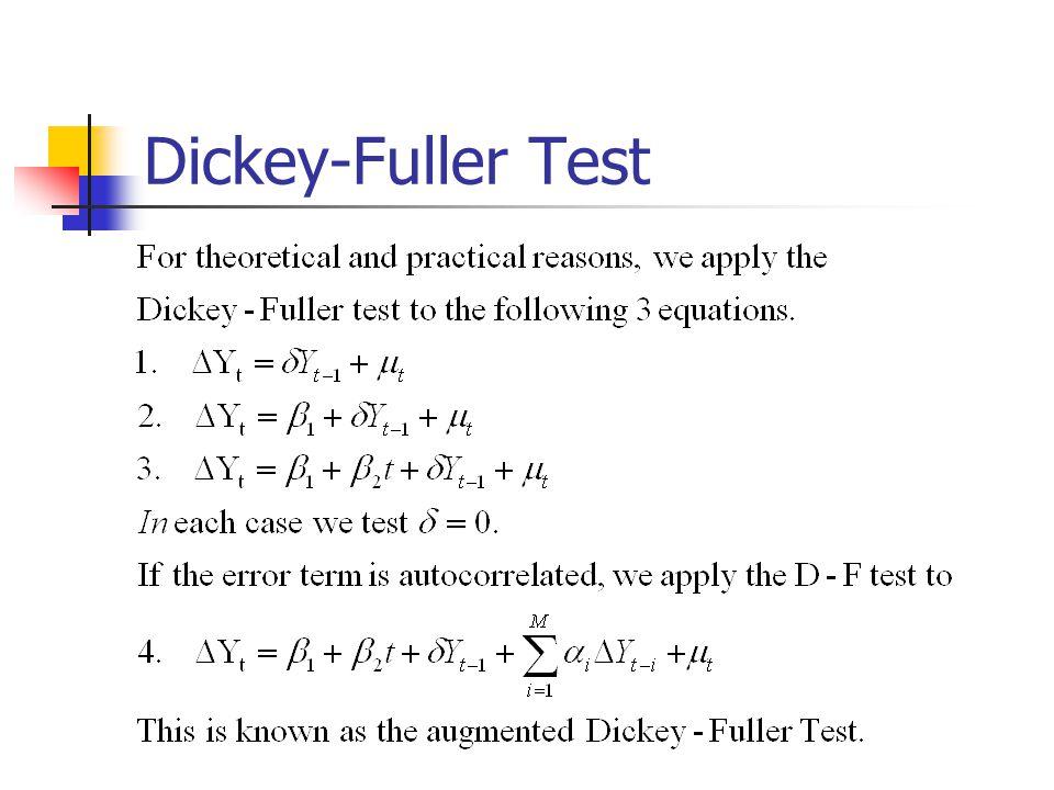 Dickey-Fuller Test
