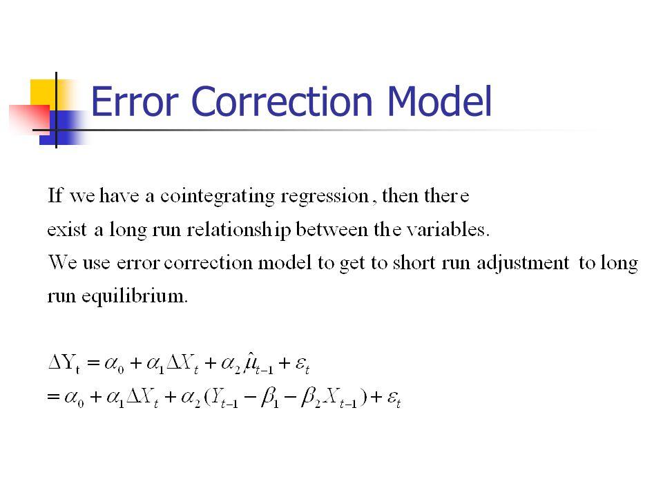 Error Correction Model