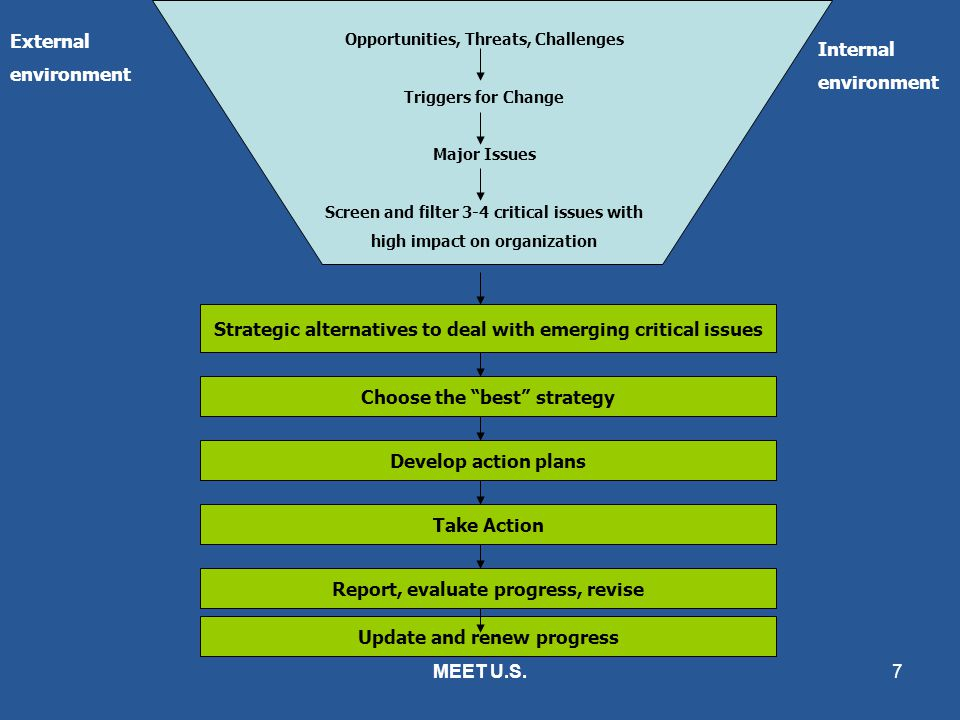 Strategic alternatives to deal with emerging critical issues