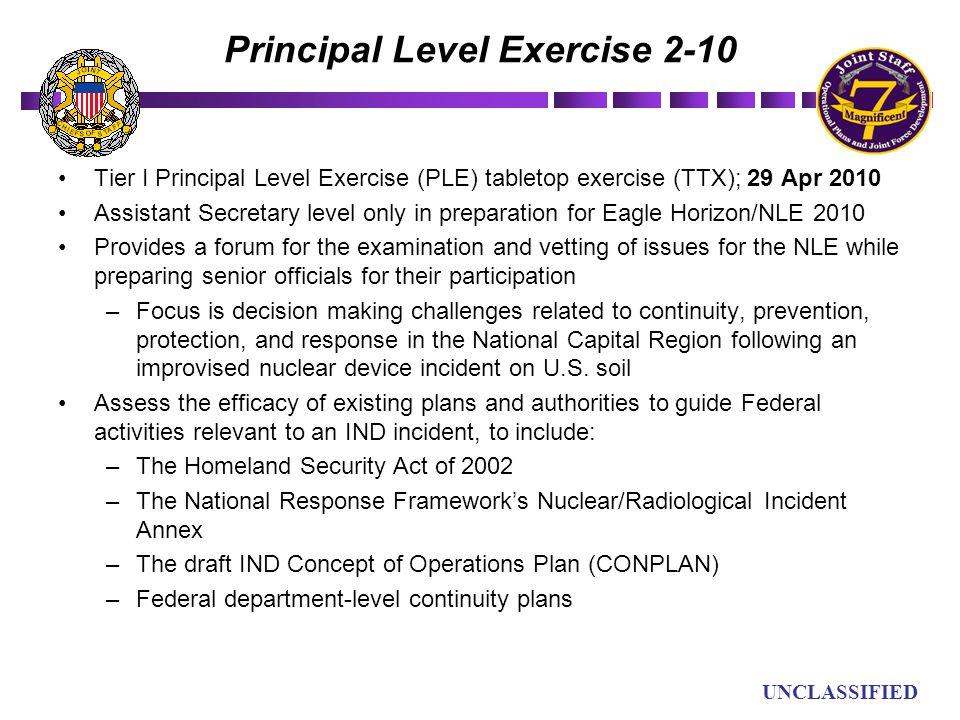 Principal Level Exercise 2-10