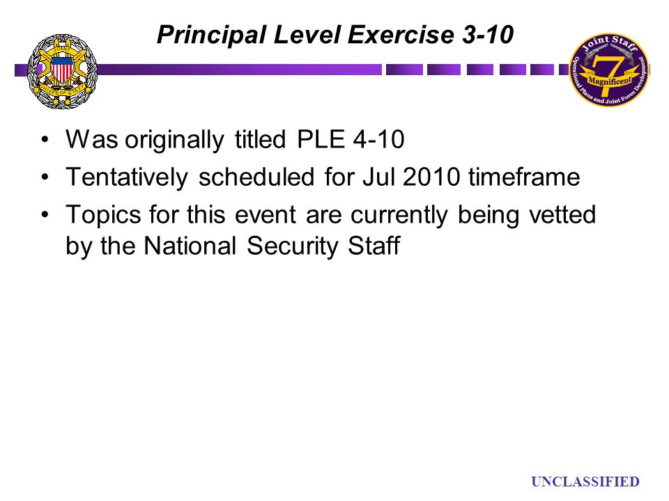 Principal Level Exercise 3-10