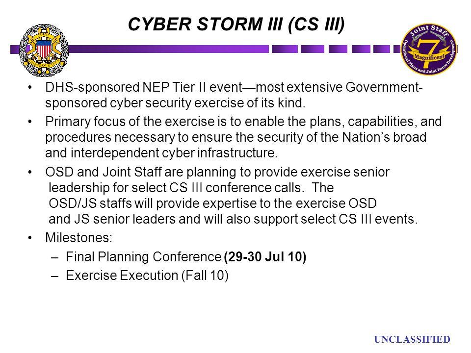 CYBER STORM III (CS III)