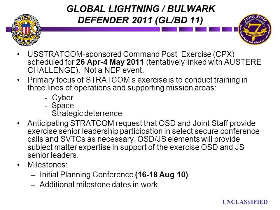 GLOBAL LIGHTNING / BULWARK DEFENDER 2011 (GL/BD 11)