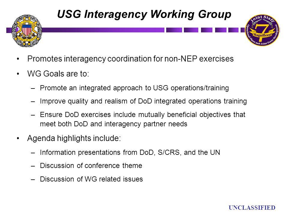 USG Interagency Working Group