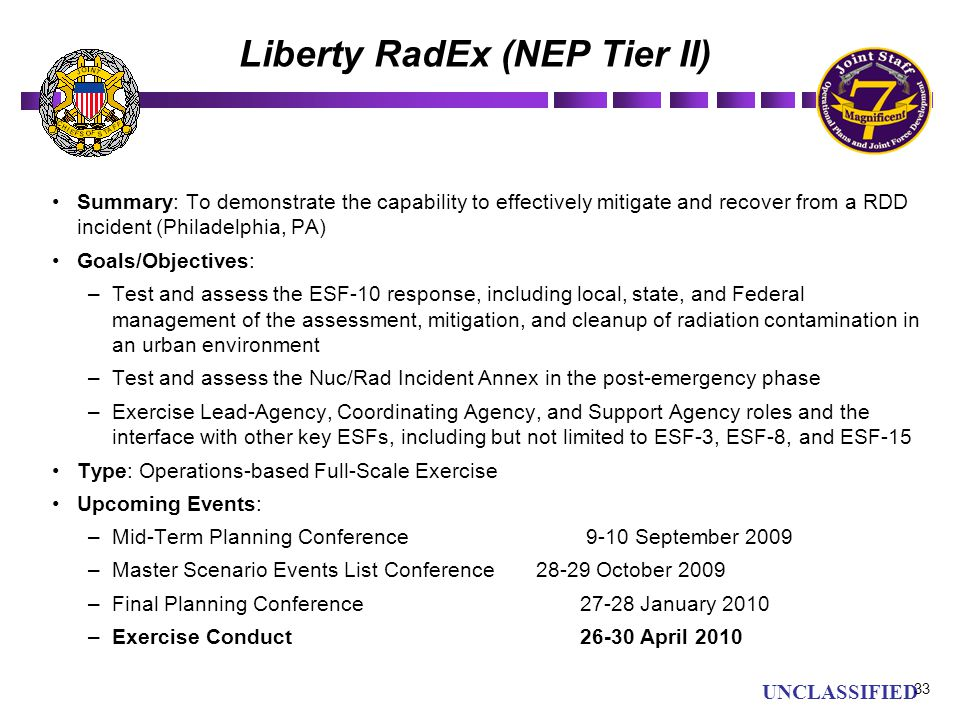 Liberty RadEx (NEP Tier II)