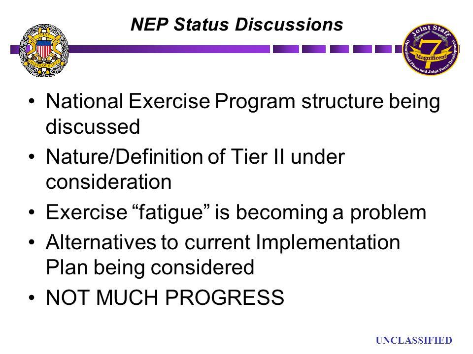 NEP Status Discussions