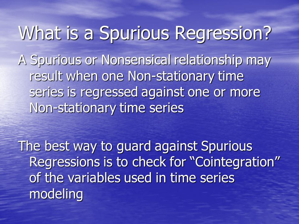 What is a Spurious Regression