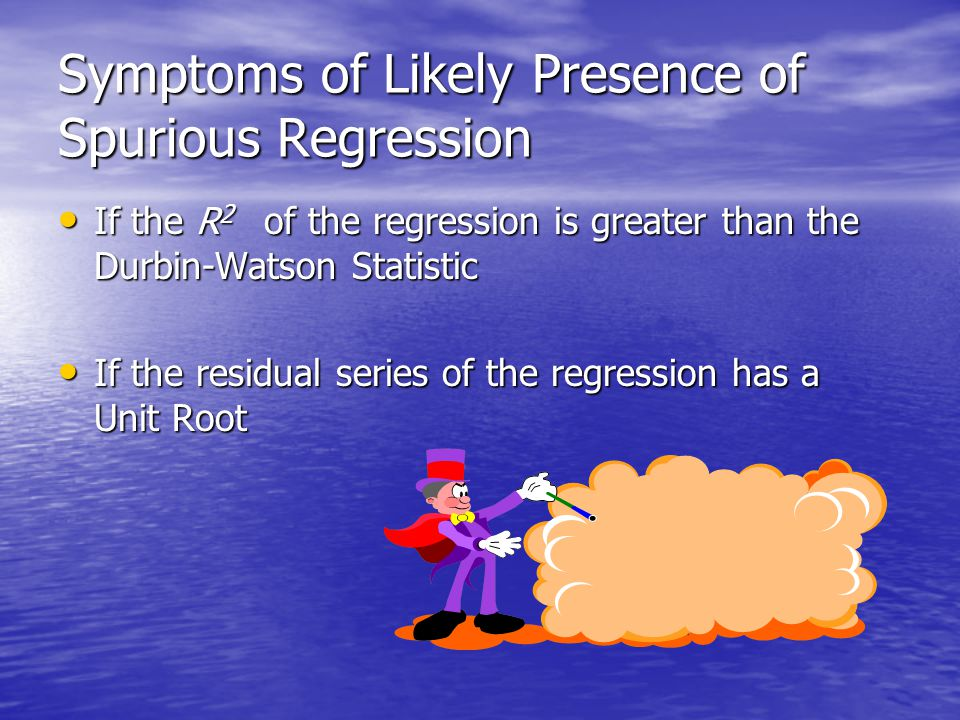 Symptoms of Likely Presence of Spurious Regression
