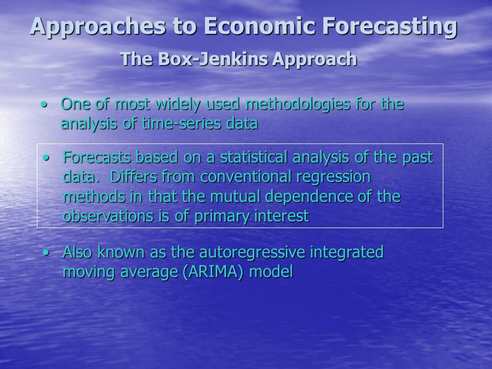 Approaches to Economic Forecasting