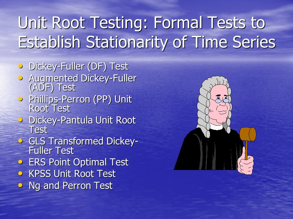 Unit Root Testing: Formal Tests to Establish Stationarity of Time Series