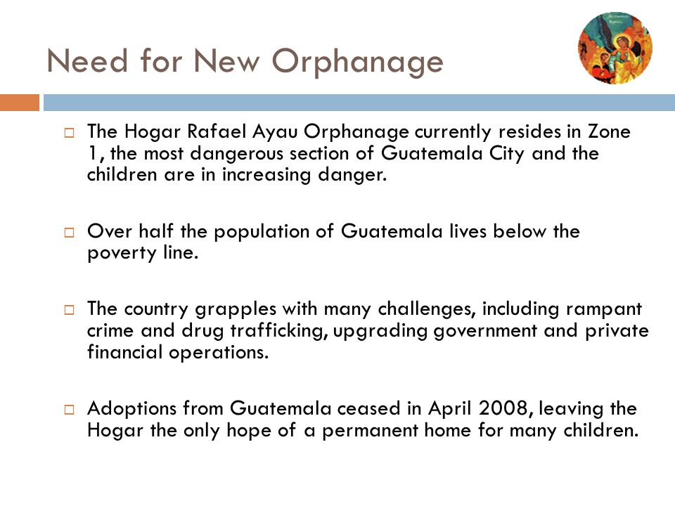Need for New Orphanage