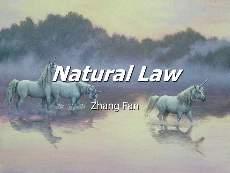 Natural Law Zhang Fan