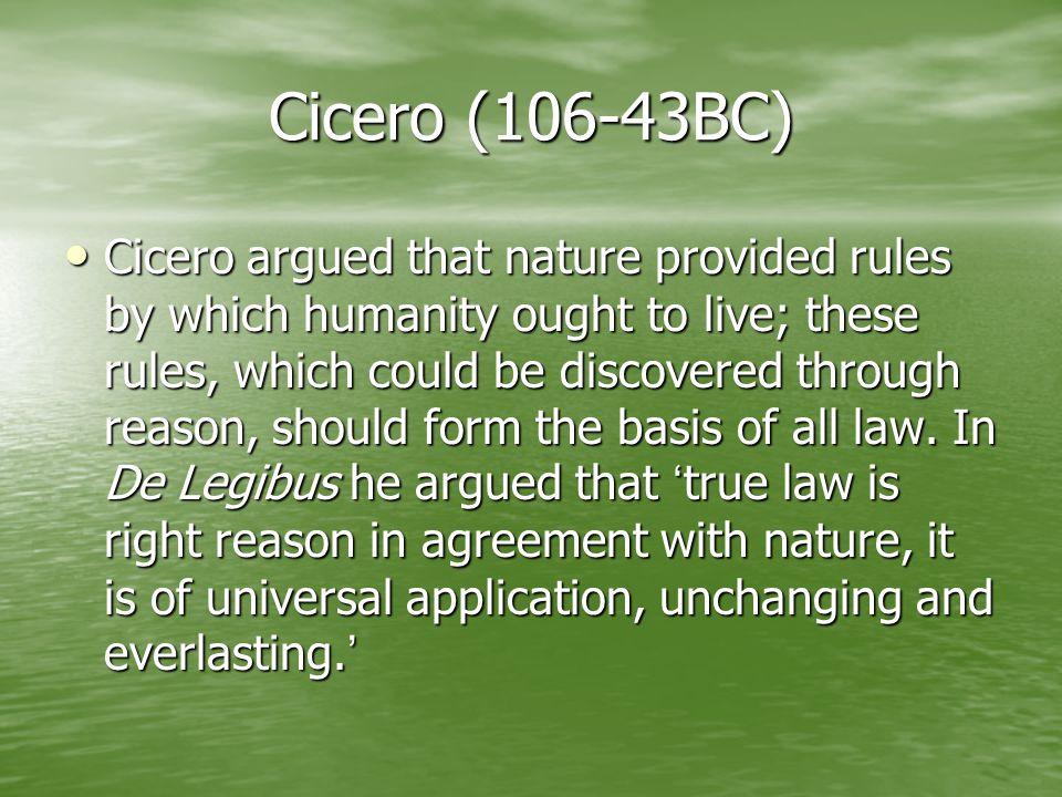 Cicero (106-43BC)