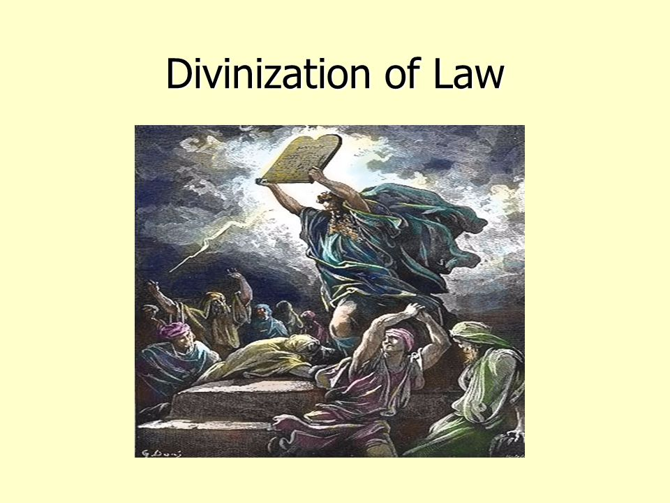 Divinization of Law