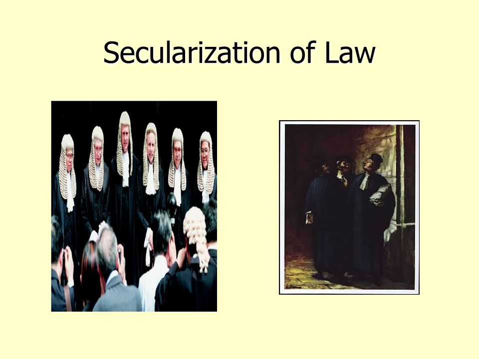 Secularization of Law
