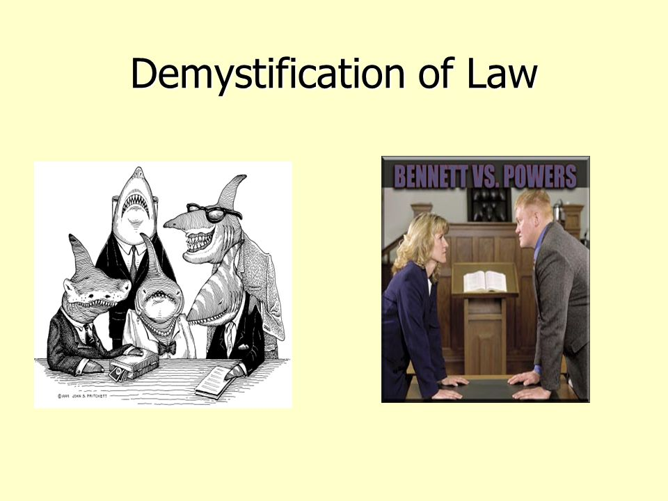Demystification of Law