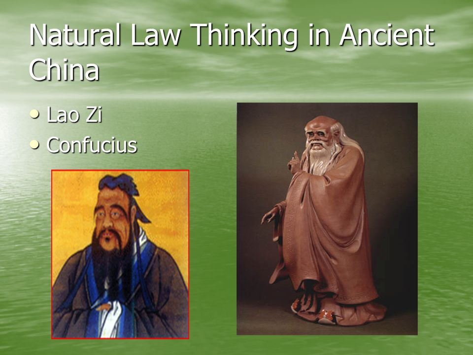 Natural Law Thinking in Ancient China