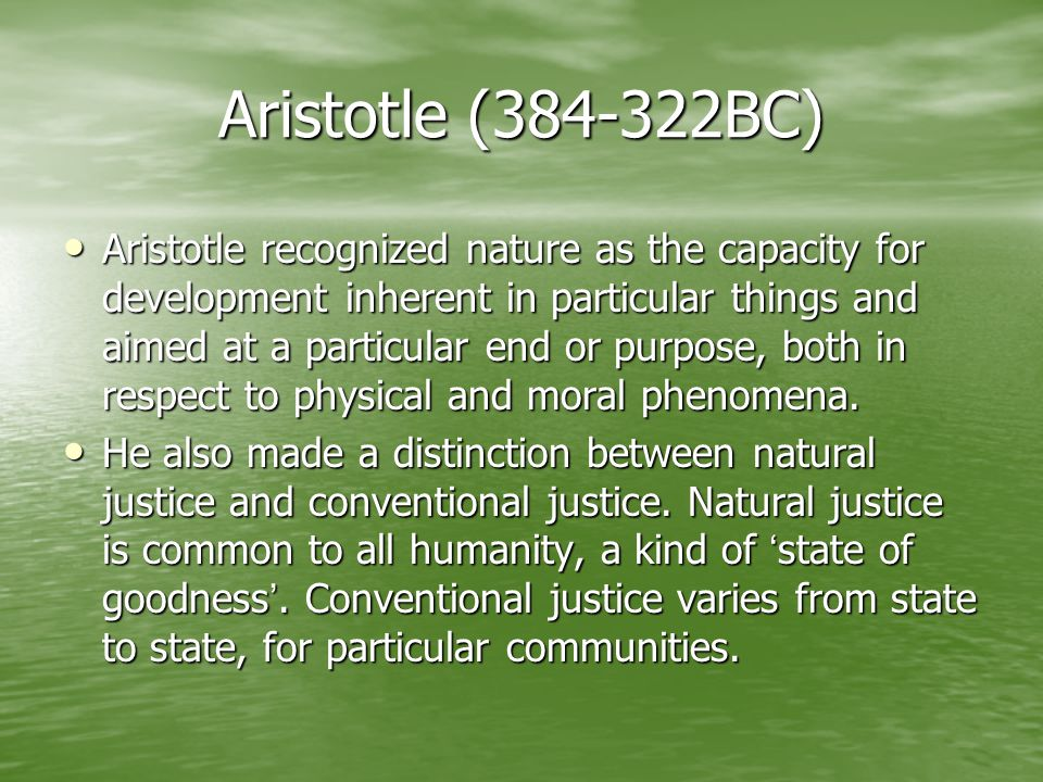 Aristotle (384-322BC)