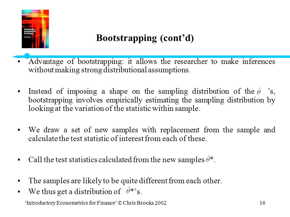 Bootstrapping (cont'd)