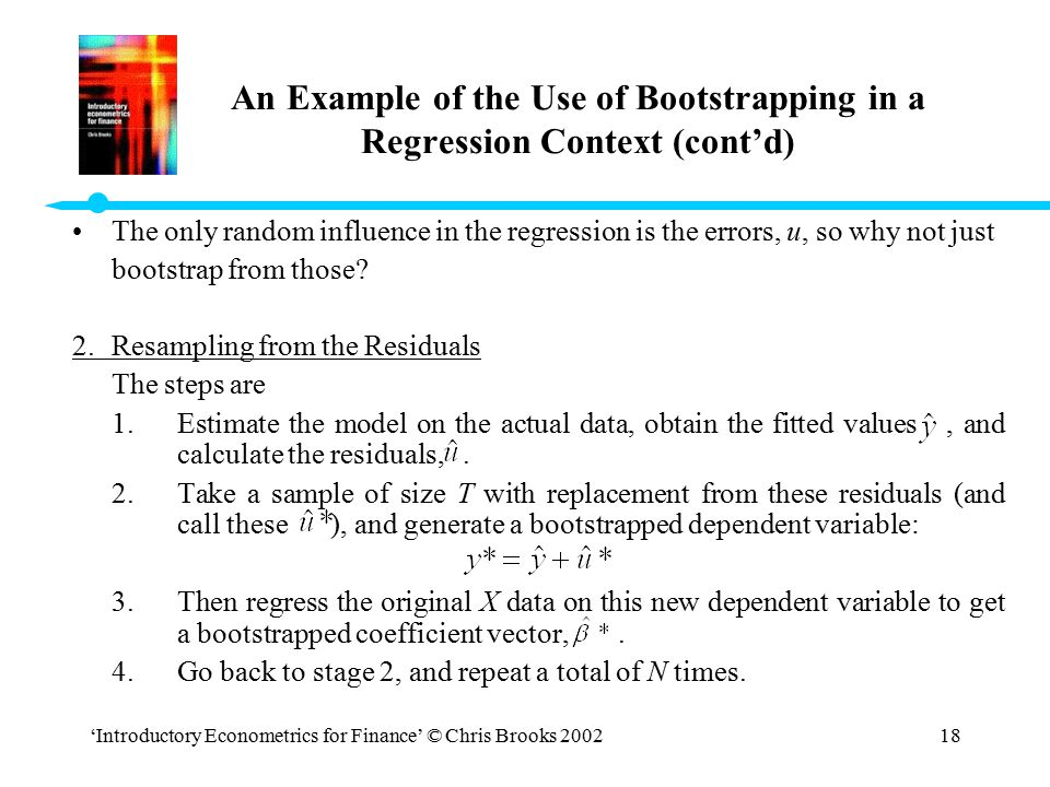 An Example of the Use of Bootstrapping in a Regression Context (cont'd)