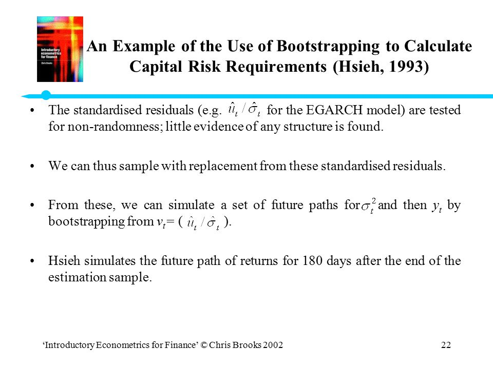 An Example of the Use of Bootstrapping to Calculate Capital Risk Requirements (Hsieh, 1993)