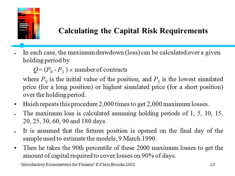 Calculating the Capital Risk Requirements