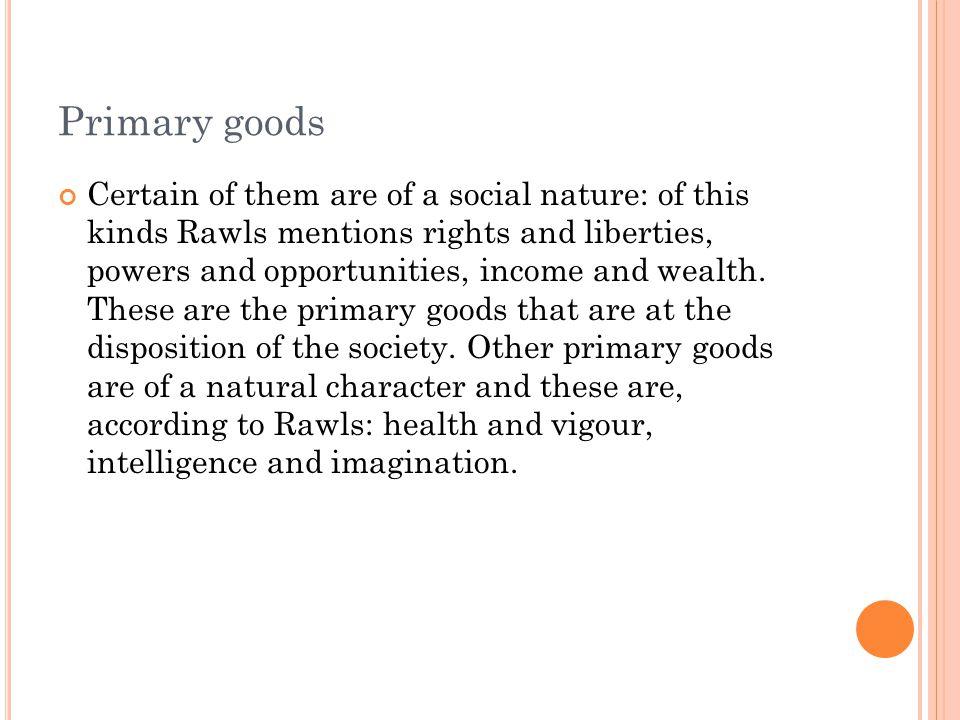 Primary goods