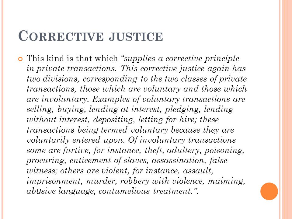 Corrective justice