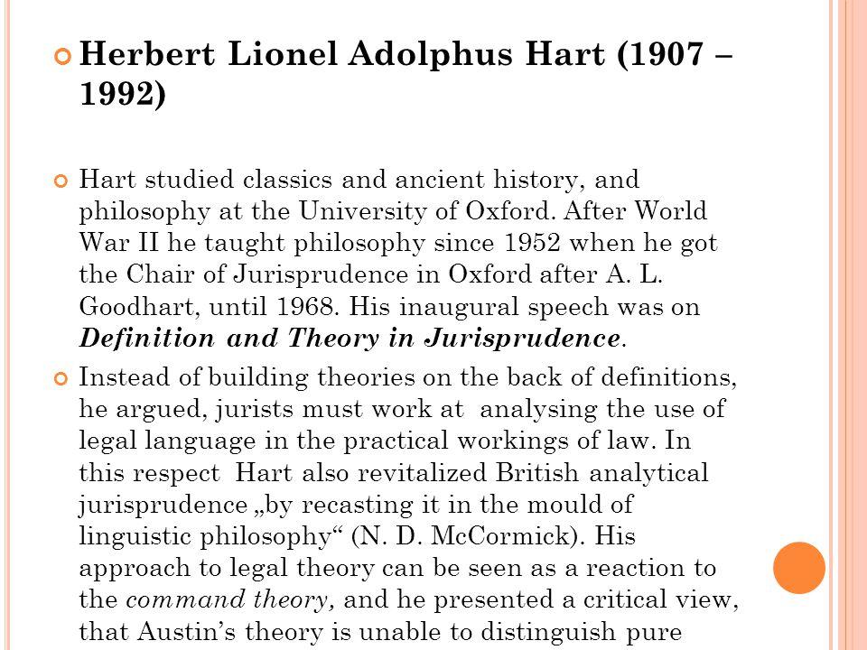 Herbert Lionel Adolphus Hart (1907 – 1992)