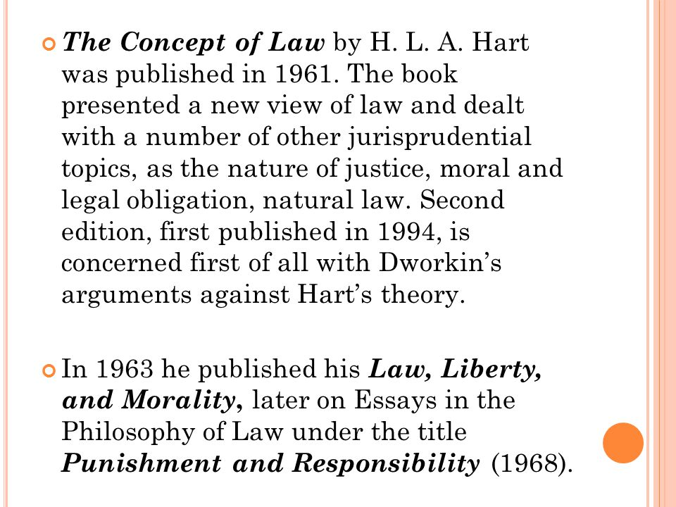 hla hart This classic collection of essays, first published in 1968, has had an enduring impact on academic and public debates about criminal responsibility and criminal punishment.