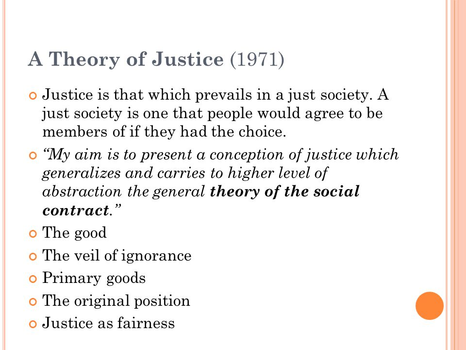 A Theory of Justice (1971)