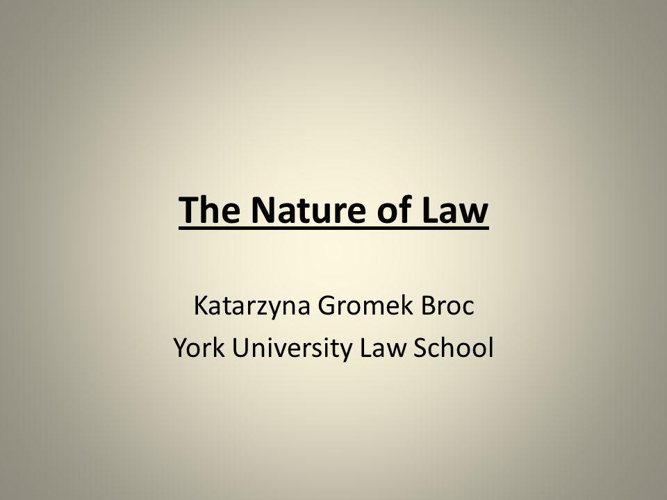 Katarzyna Gromek Broc York University Law School