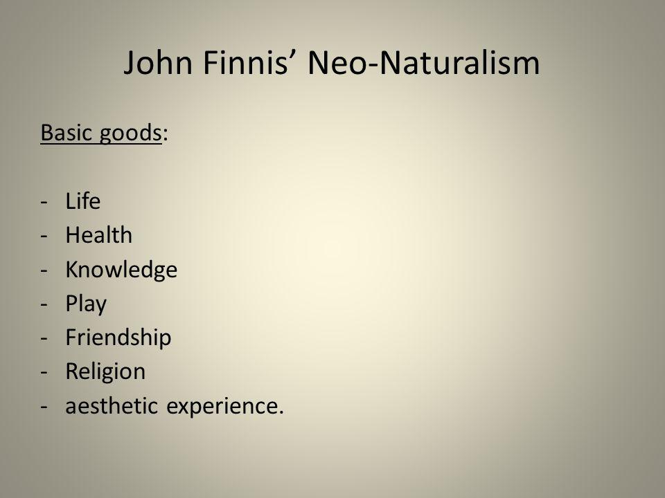 John Finnis' Neo-Naturalism