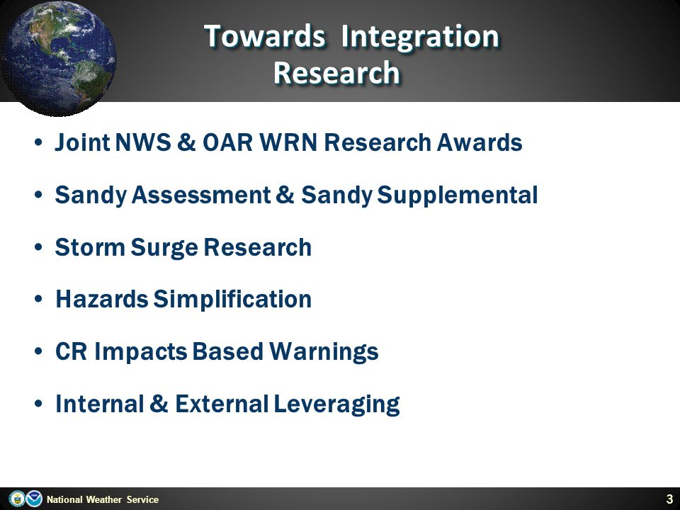Towards Integration Research