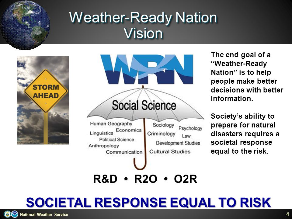 Weather-Ready Nation Vision