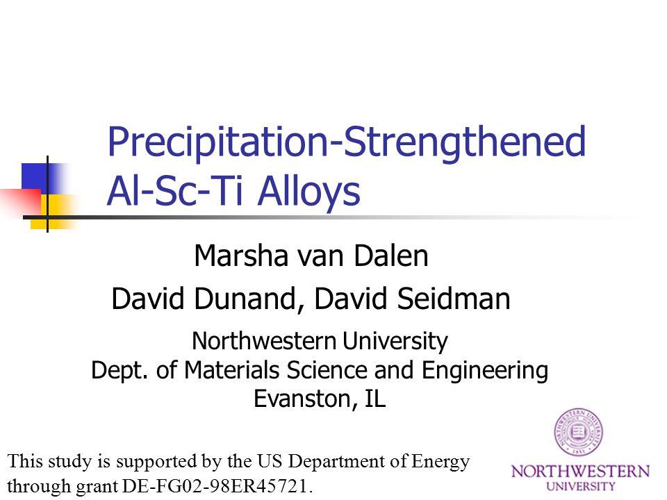 Precipitation-Strengthened Al-Sc-Ti Alloys