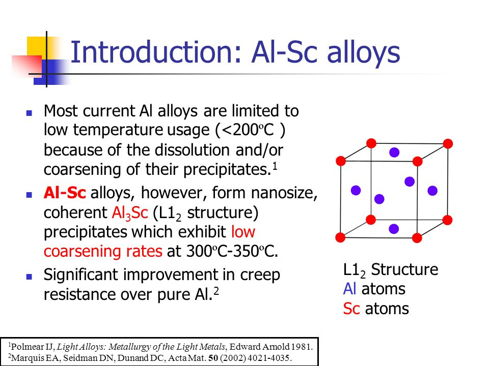 Introduction: Al-Sc alloys