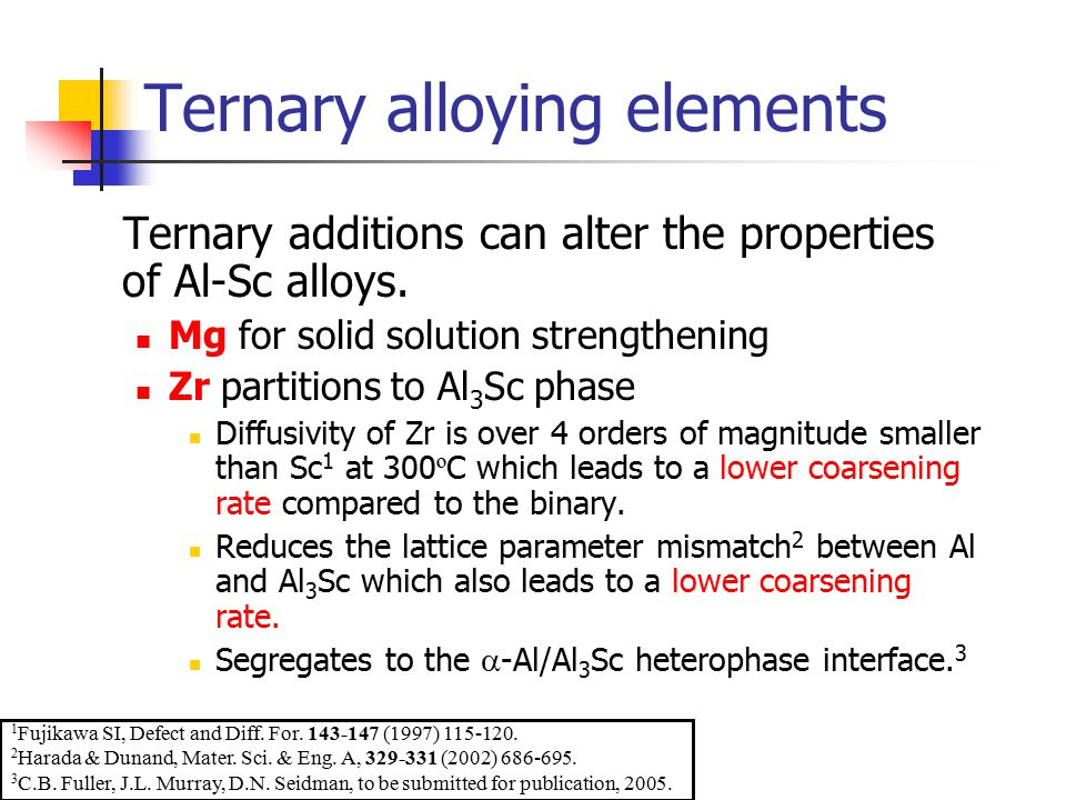 Ternary alloying elements