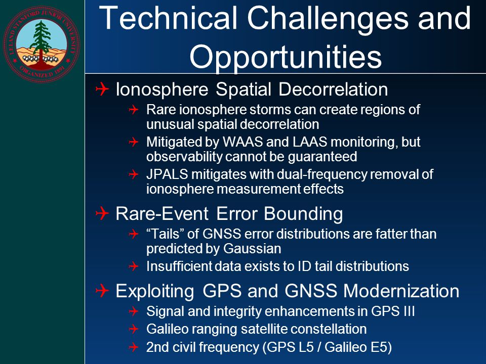 Technical Challenges and Opportunities