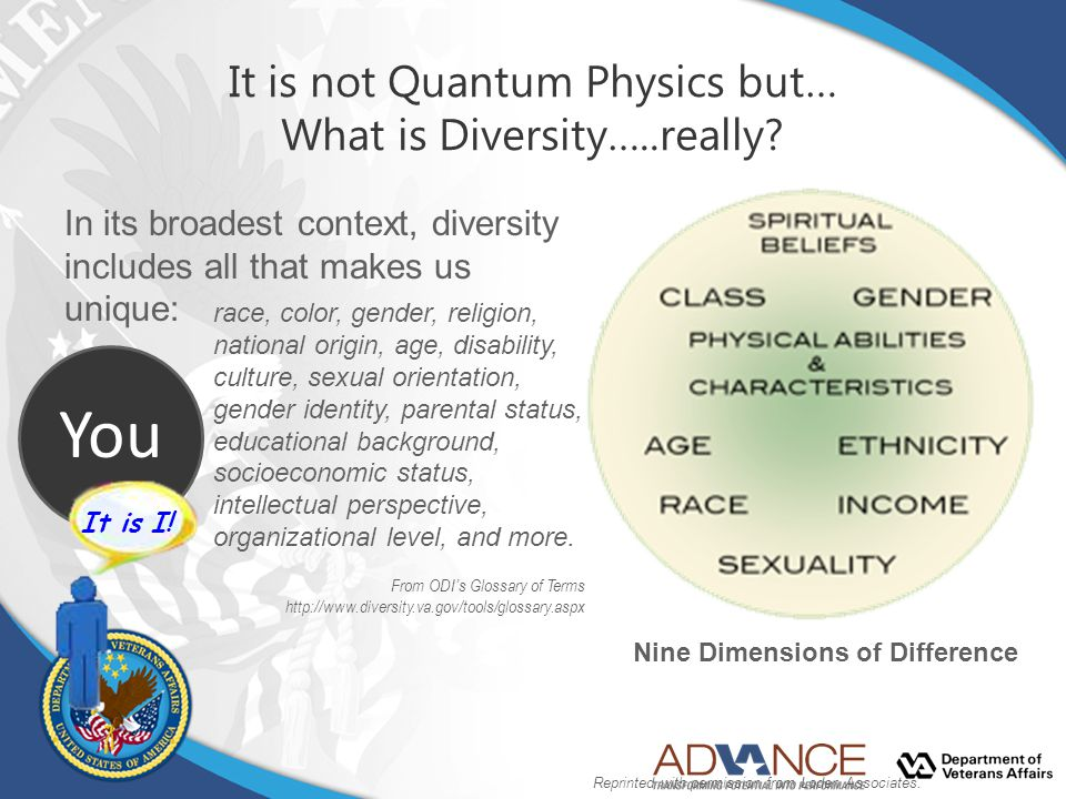 It is not Quantum Physics but… What is Diversity…..really