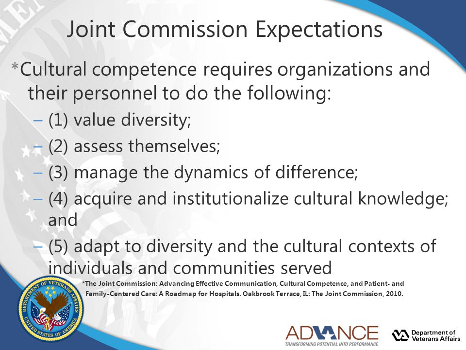 Joint Commission Expectations