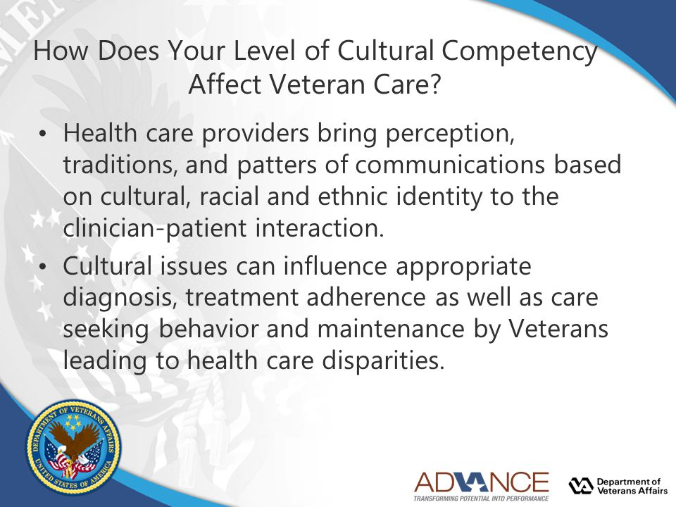 How Does Your Level of Cultural Competency Affect Veteran Care