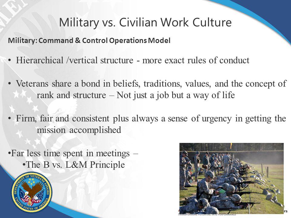 Military vs. Civilian Work Culture