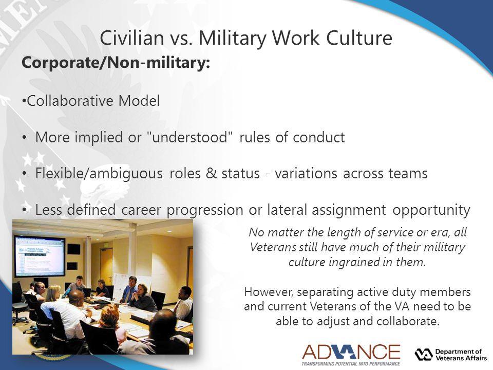 Civilian vs. Military Work Culture