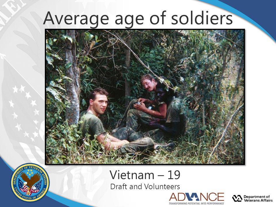 Average age of soldiers