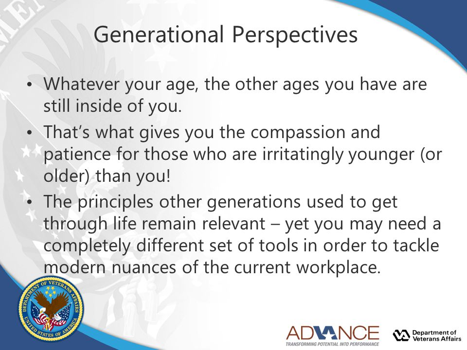 Generational Perspectives