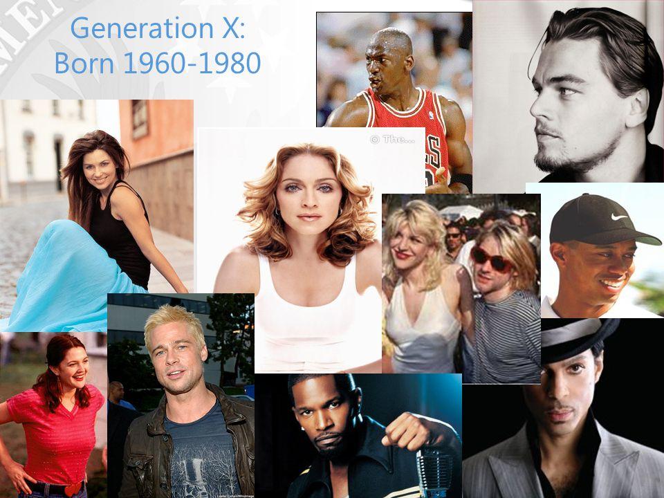 Generation X: Born 1960-1980