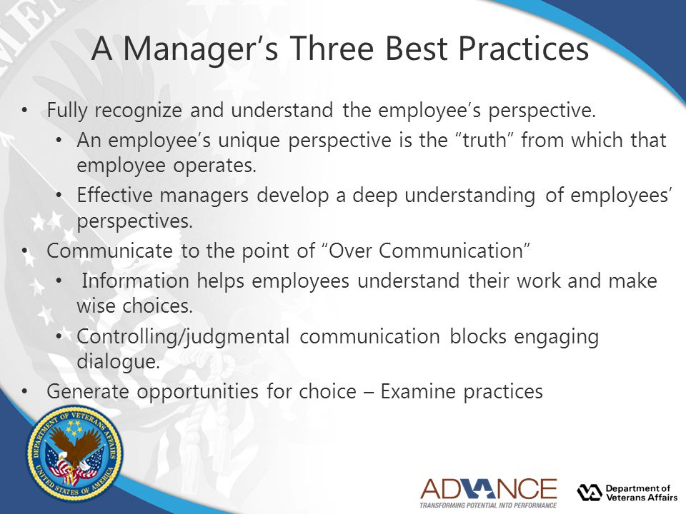 A Manager's Three Best Practices